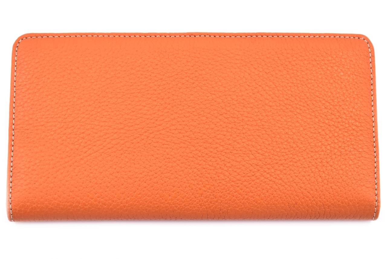 Dámská/pánská kožená  dokladovka  k uložení kreditních karet a dokladů - oranžová
