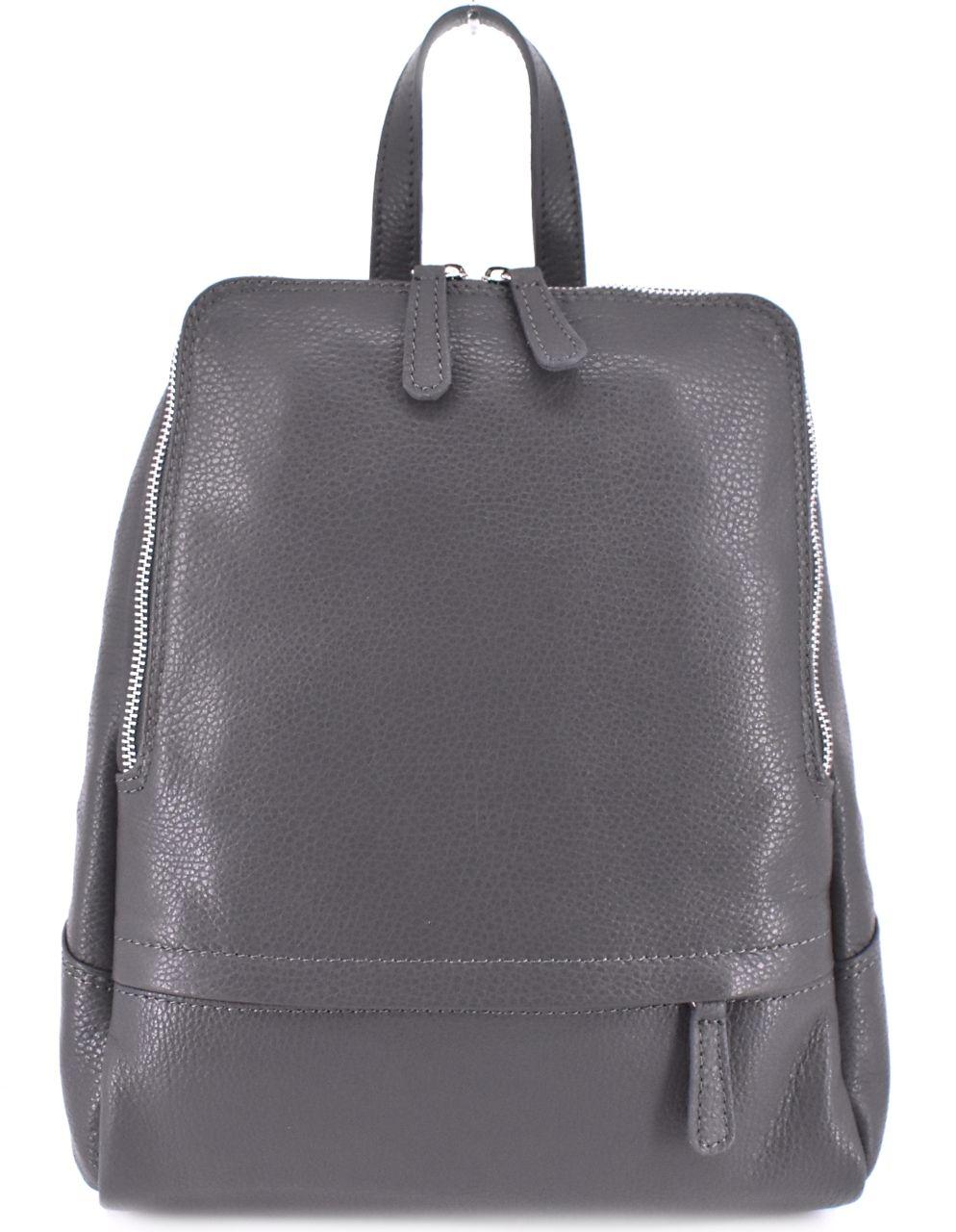 Dámský kožený batoh Arteddy - tmavě šedá 36931
