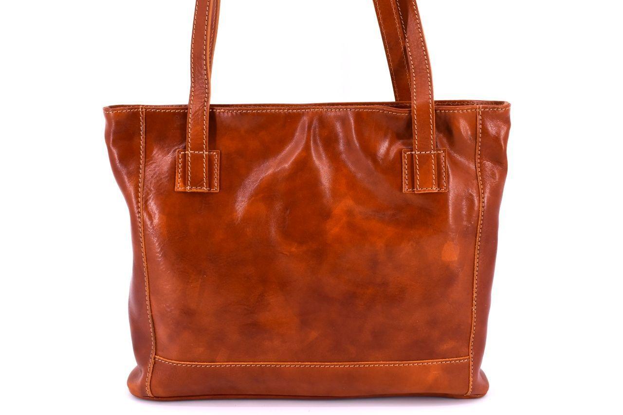 Dámská kožená kabelka Arteddy - koňak 29621