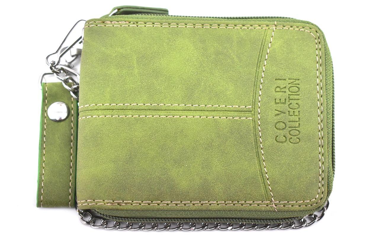 Pánská kožená peněženka z pravé kůže Coveri Collection - zelená 30913