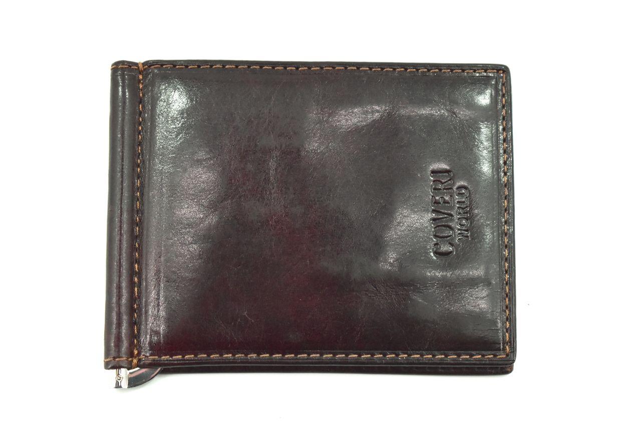 Pánská kožená peněženka dolarovka z pravé kůže Coveri World - tmavě hnědá 23574