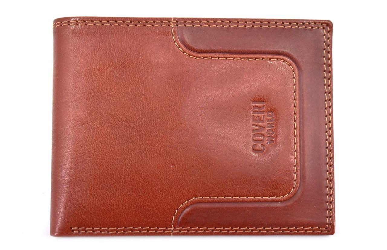 Pánská kožená peněženka z pravé kůže Coveri World - hnědá 21446