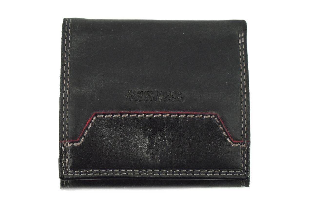 Pánská kožená peněženka z pravé kůže Harvey Miller - černá 30550