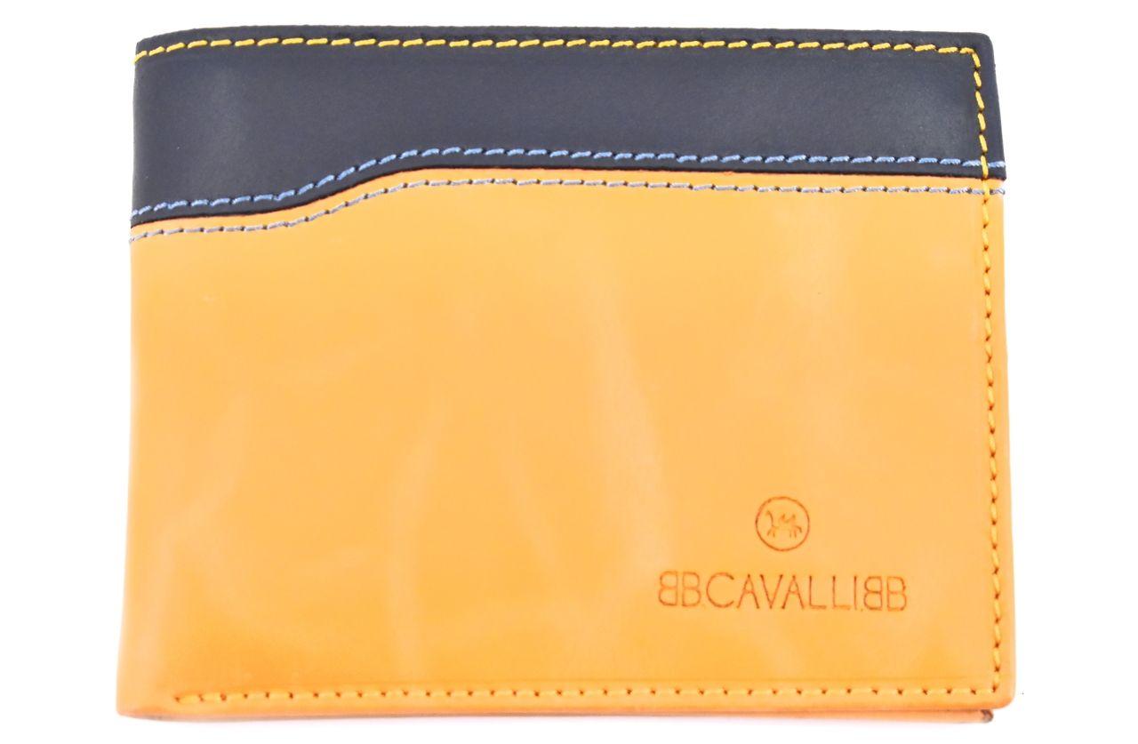 Pánská kožená peněženka z pravé kůže B.Cavalli - žlutá 27786