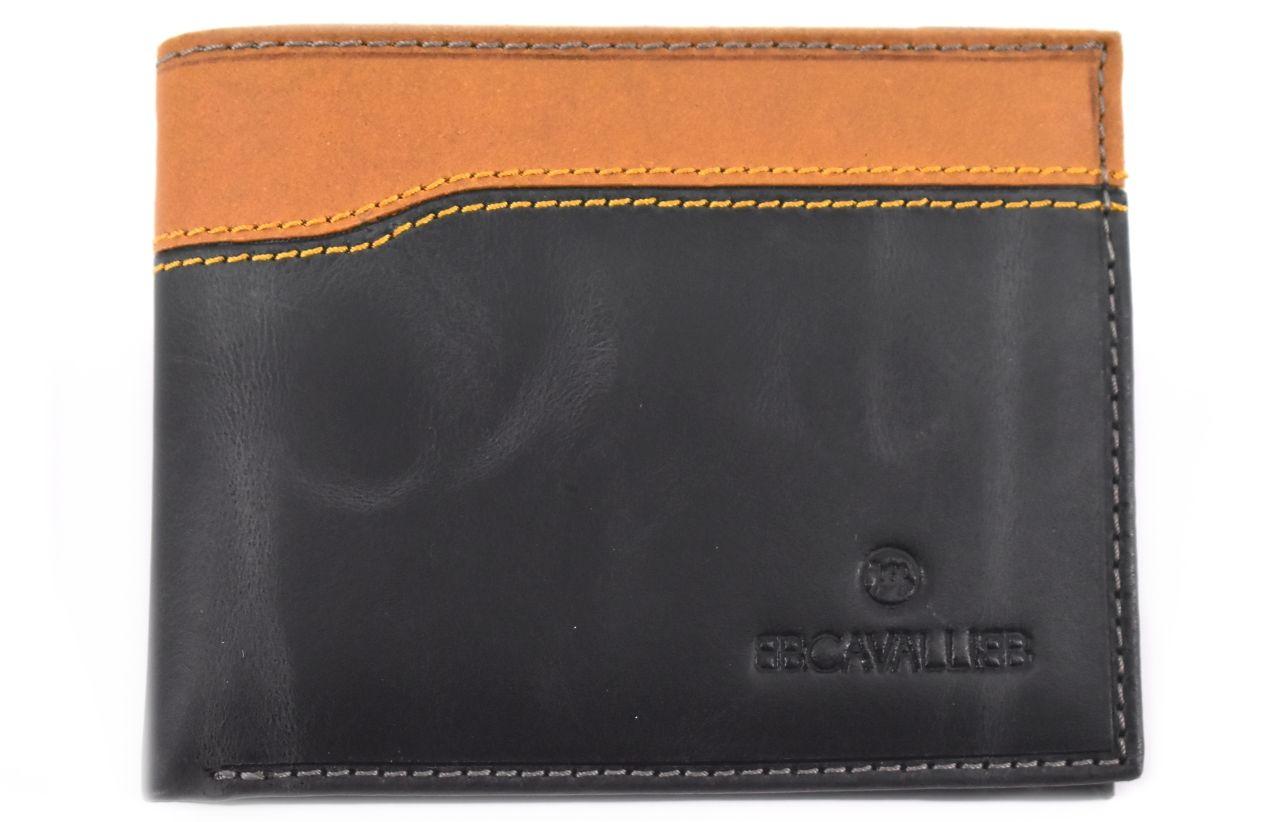 Pánská moderní kožená peněženka z pravé kůže B.Cavalli - černá 27787