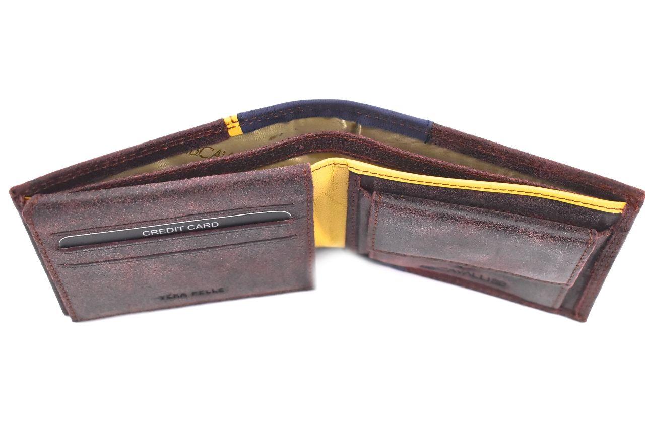 Pánská moderní kožená peněženka z pravé kůže B.Cavalli - černá