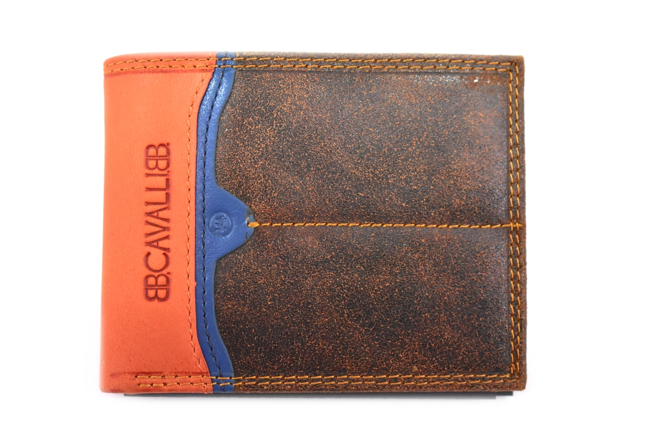 Pánská moderní kožená peněženka z pravé kůže B.Cavalli - hnědá 27788