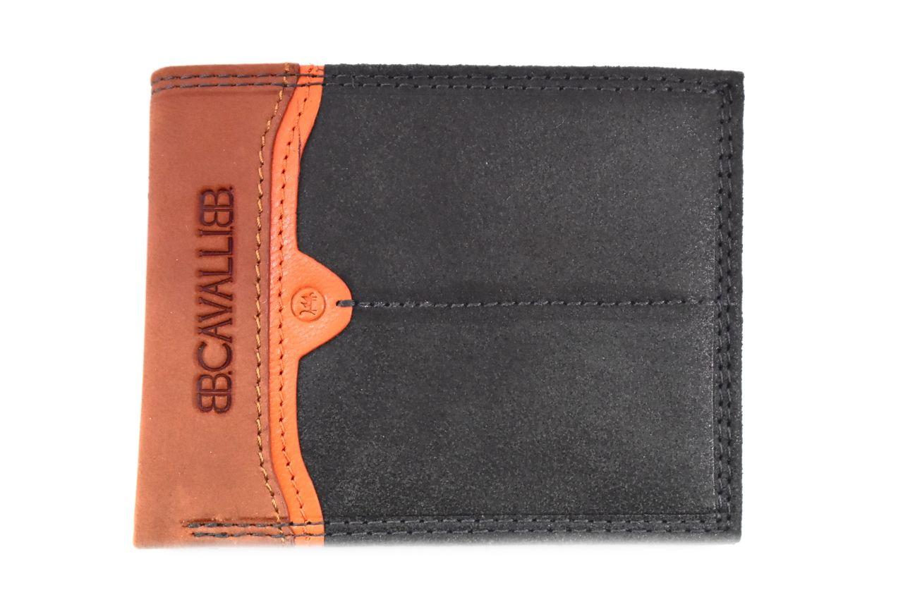 Pánská moderní kožená peněženka z pravé kůže B.Cavalli - černá 27788