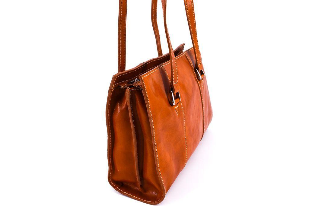 Dámská kožená kabelka Arteddy - tmavě hnědá 90729