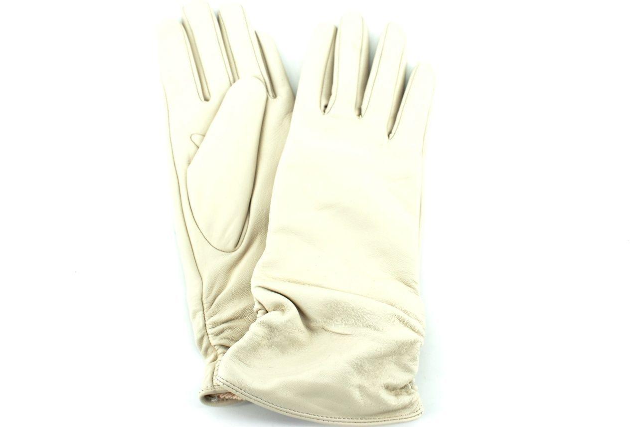 Dámské kožené rukavice Every - krémová (XL)