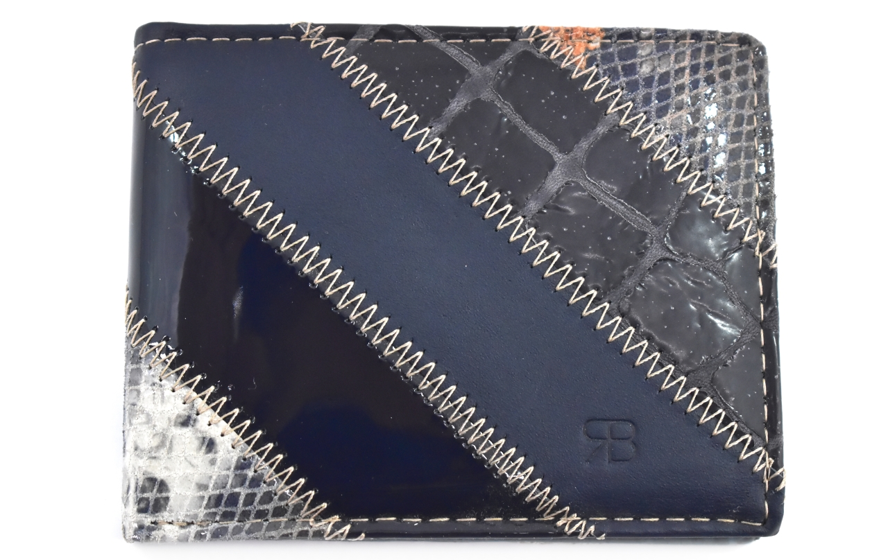 Pánská kožená peněženka na šířku Renato Balestra - modrá 3 22374