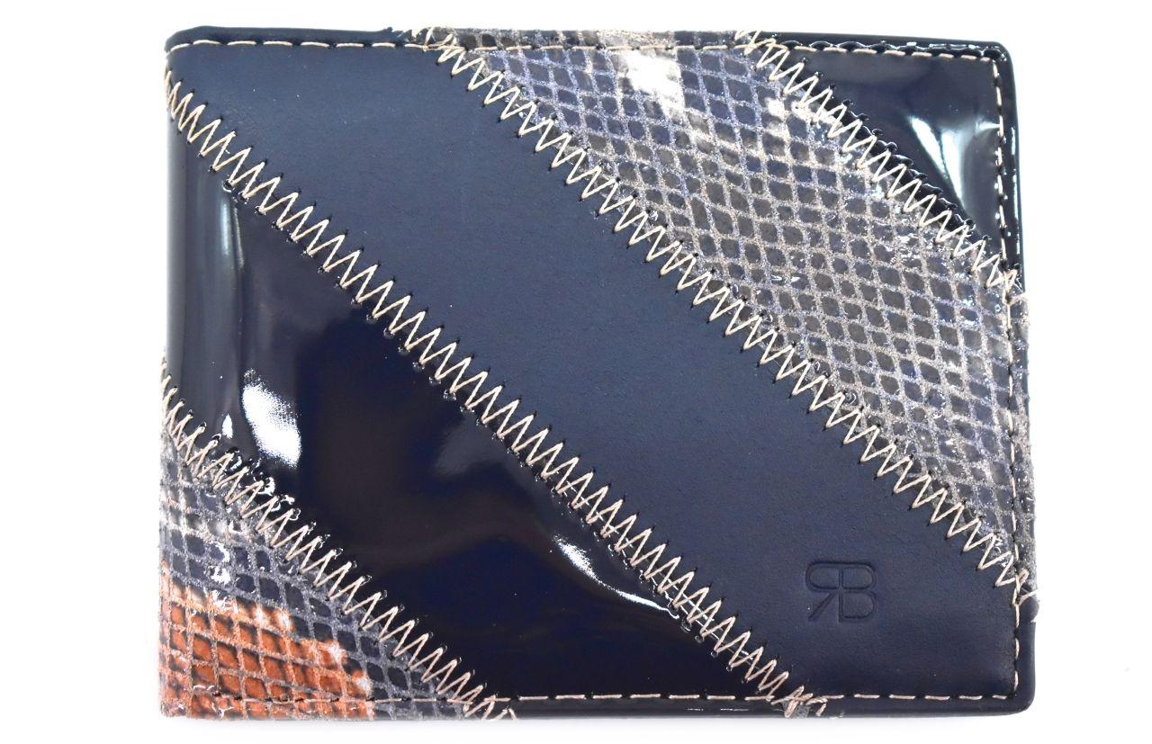 Pánská kožená peněženka na šířku Renato Balestra - modrá 4 22374