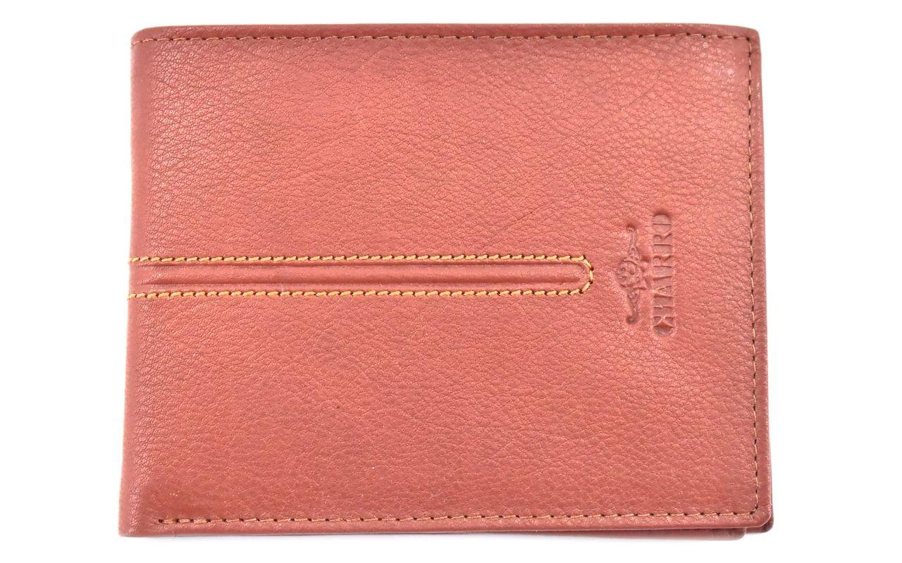 Pánská kožená peněženka z pravé kůže na šířku Charro - světle hnědá 27814
