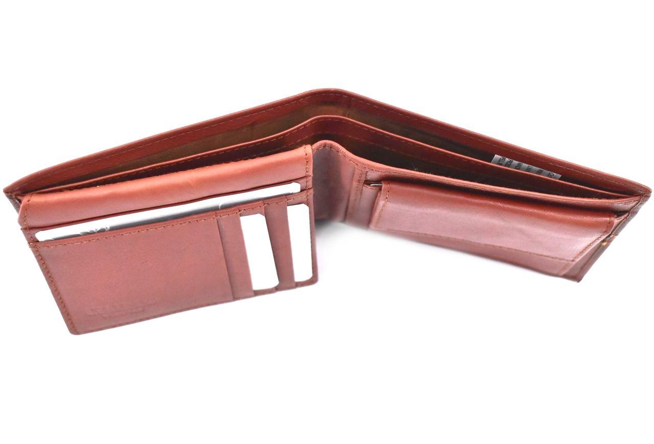 Pánská kožená peněženka z pravé kůže na šířku Charro - světle hnědá