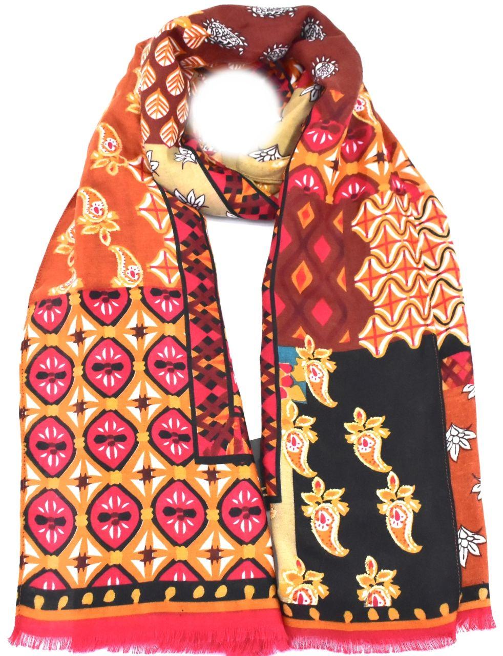 Dámský šátek - výcebarevná