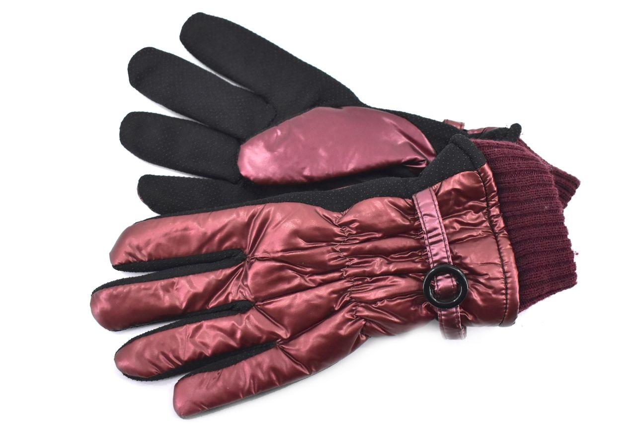 Dámské rukavice - vínová