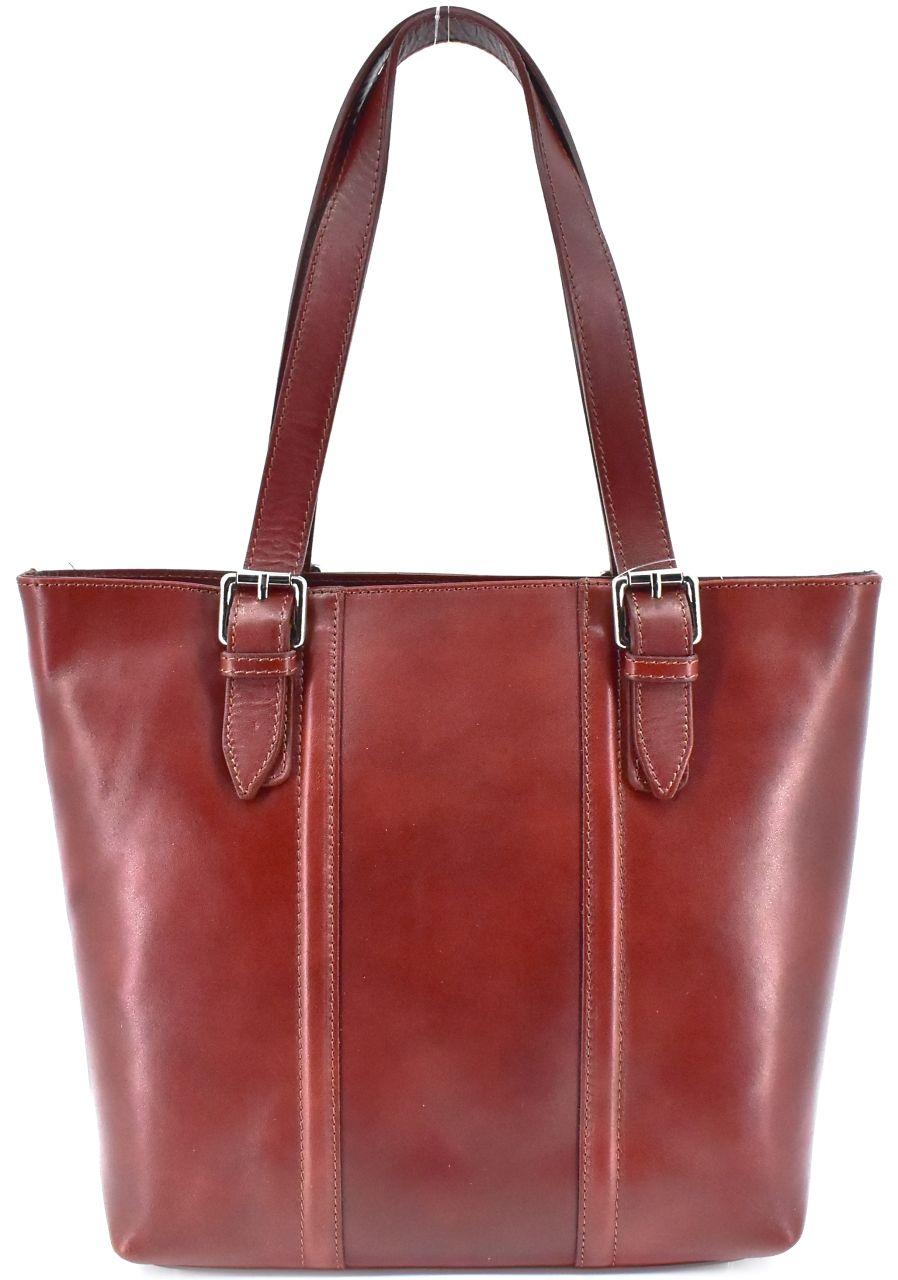 Dámská kožená kabelka Arteddy - hnědá 31028