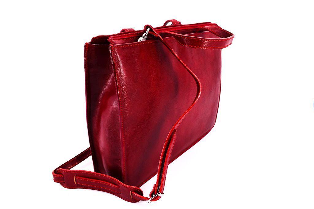 Dámská kožená kabelka Arteddy - černá 32458
