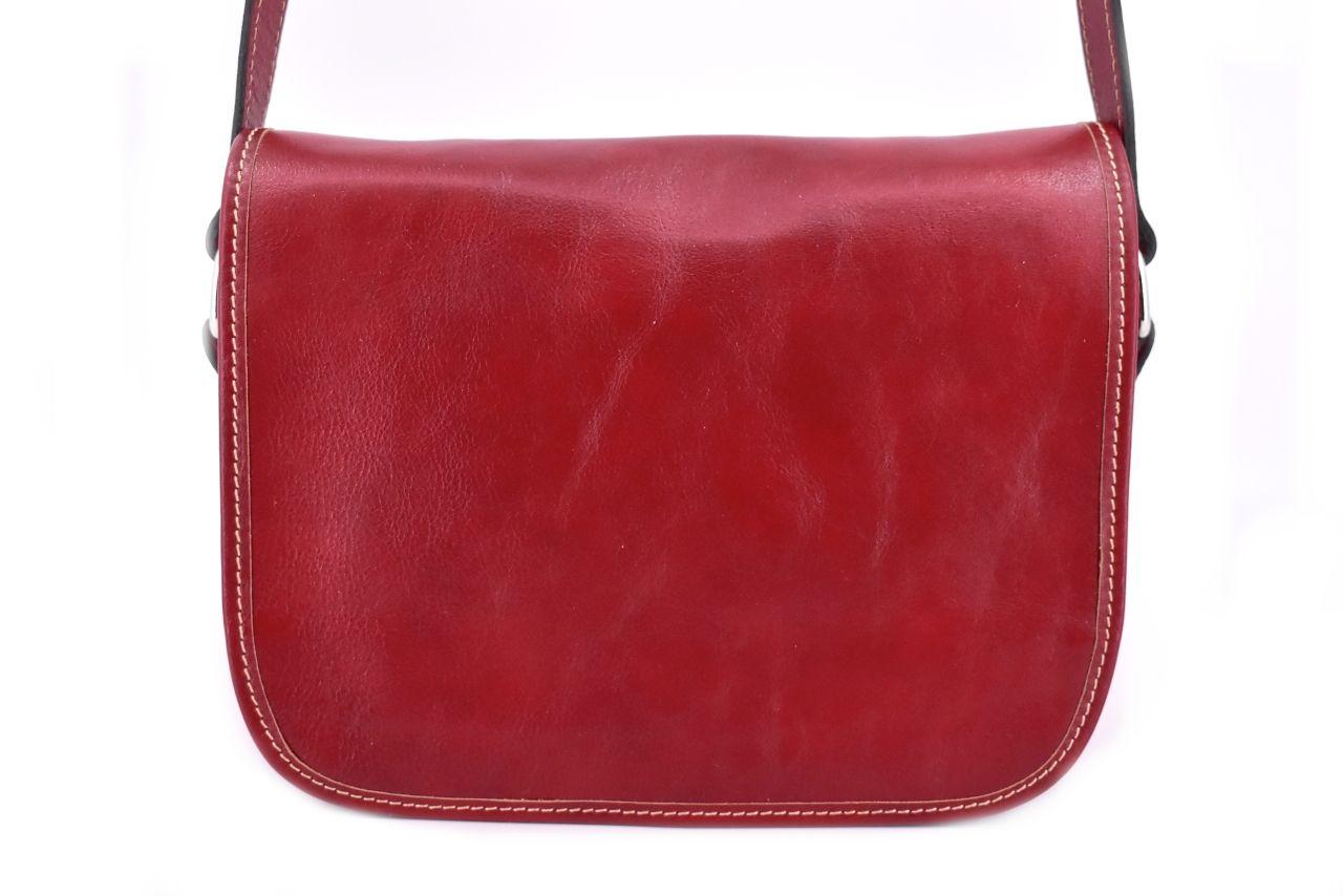 Dámská kožená kabelka crossbody (lovecká) Arteddy - červená 29644