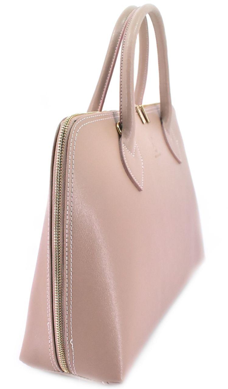 Dámská kožená kabelka Arteddy - krémová 32445