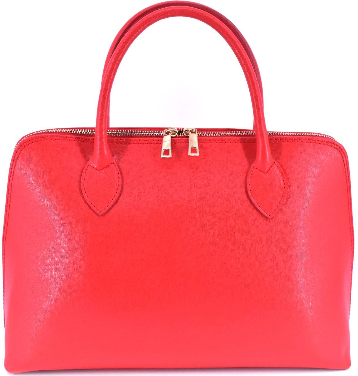 Dámská kožená kabelka Arteddy - červená 32445