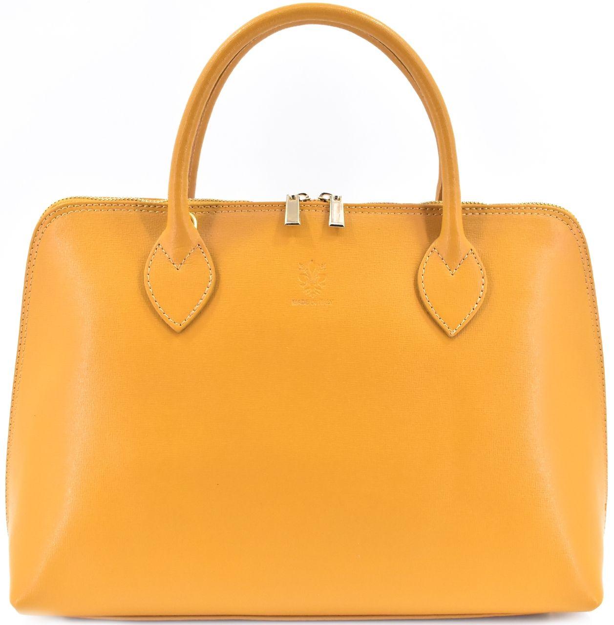 Dámská kožená kabelka Arteddy - hořčicová 32445