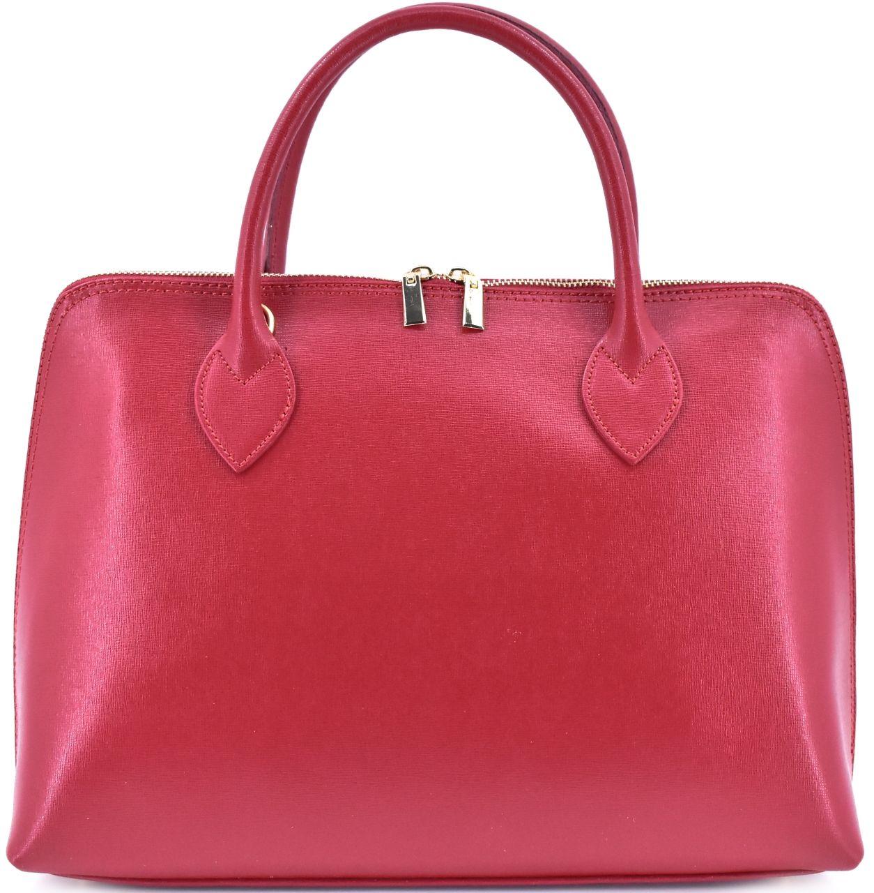 Dámská kožená kabelka Arteddy - tmavě červená 32445