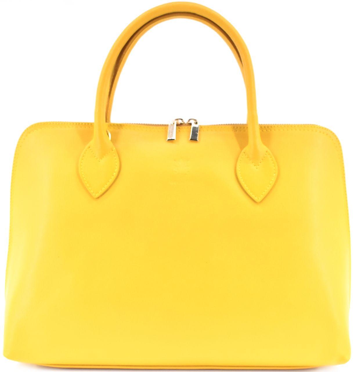Dámská kožená kabelka Arteddy - žlutá 32445