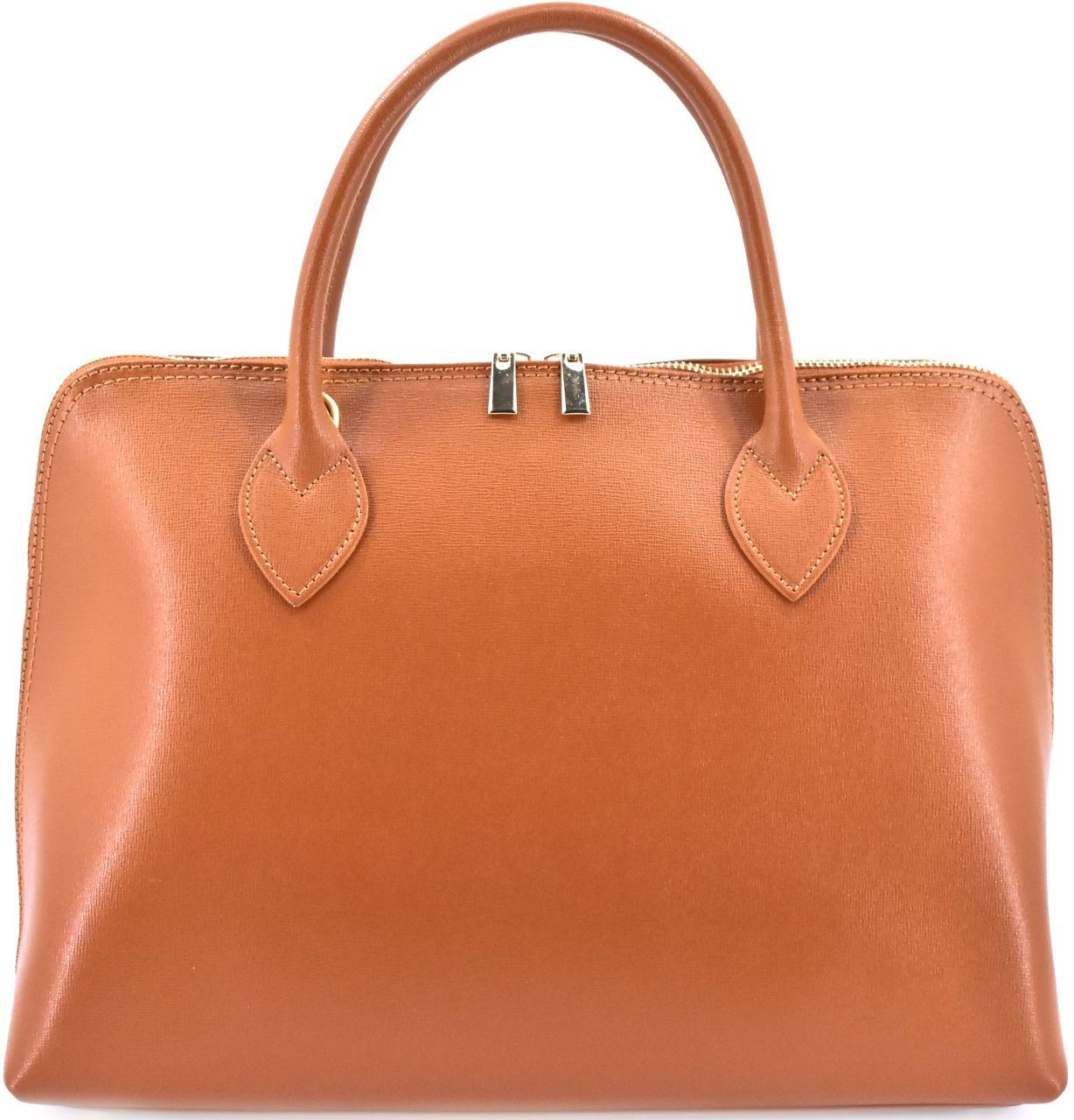 Dámská kožená kabelka Arteddy - hnědá 32445