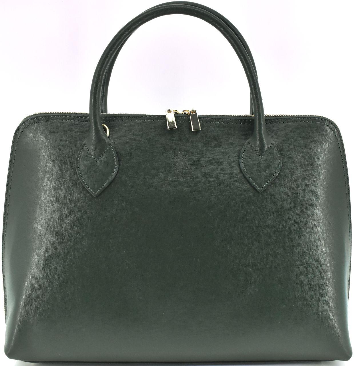 Dámská kožená kabelka Arteddy - tmavě zelená 32445