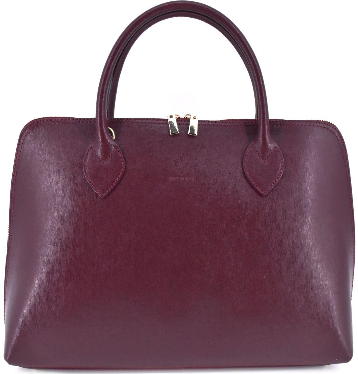 Dámská kožená kabelka Arteddy - vínová 32445