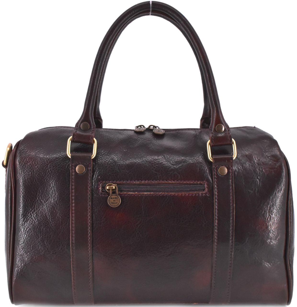 Kožená cestovní taška Arteddy - tmavě hnědá