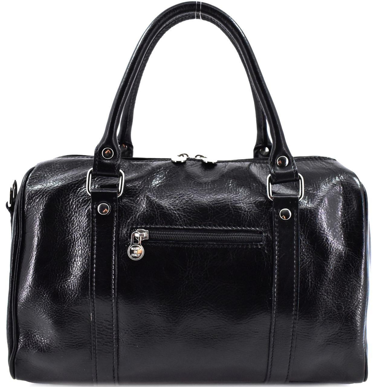 Kožená cestovní taška Arteddy - černá