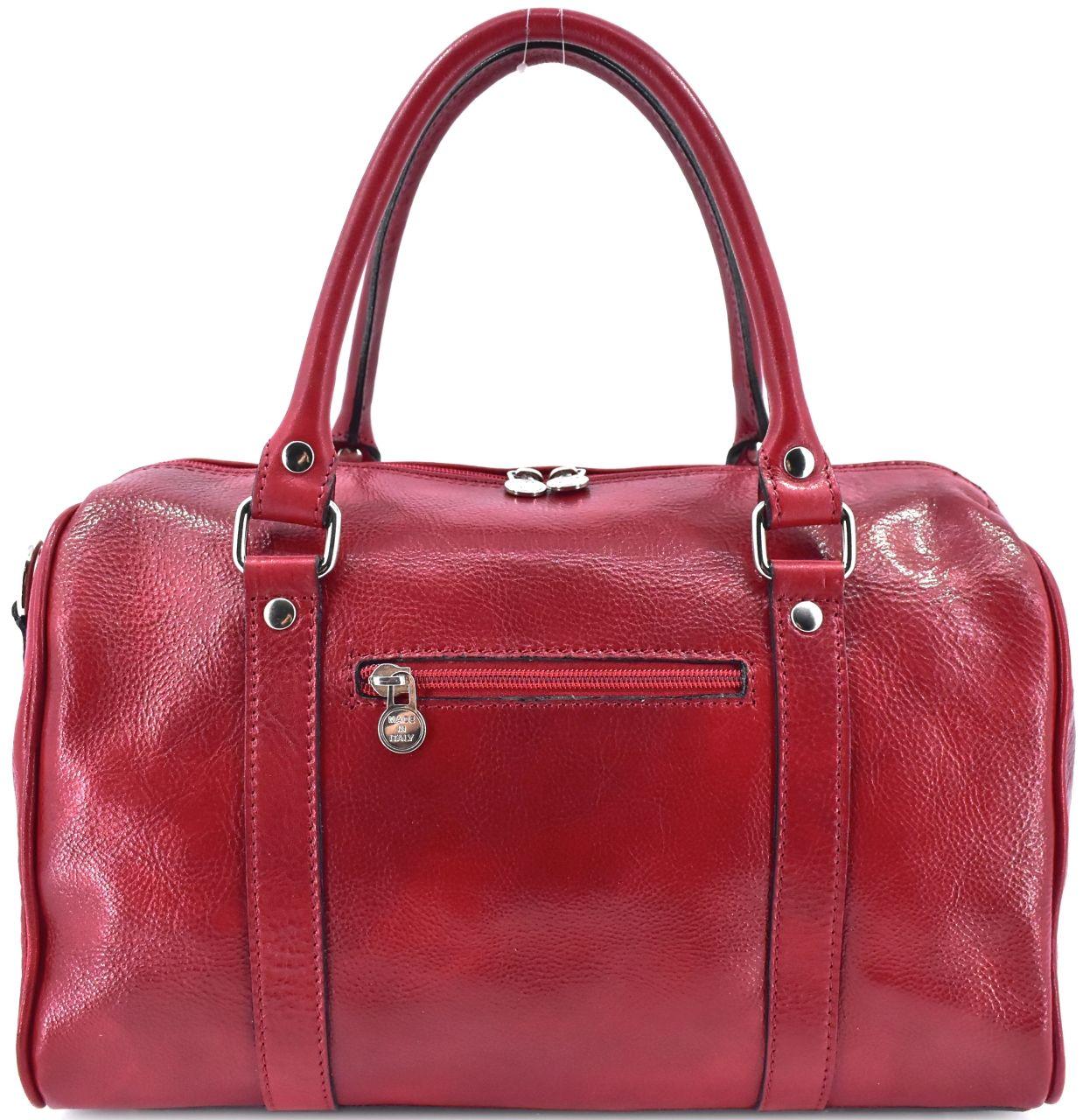 Kožená cestovní taška Arteddy - tmavě červená
