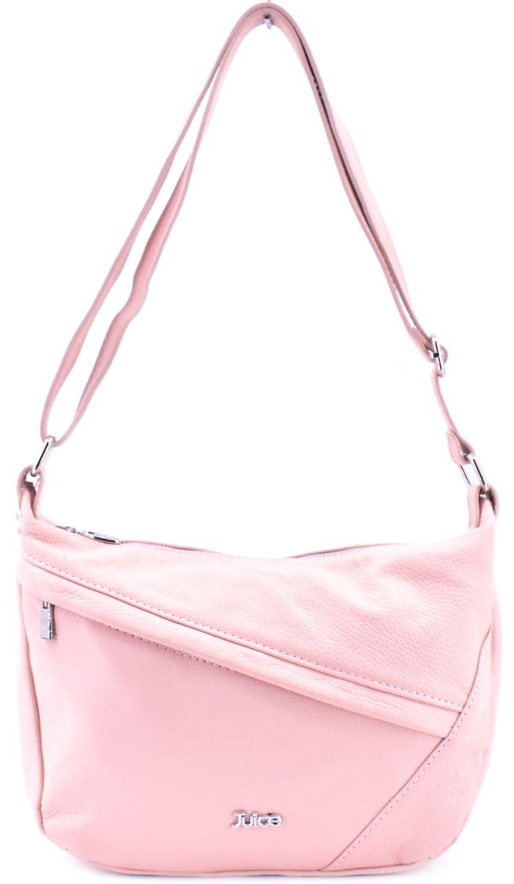Dámská kožená kabelka crossbody Juice - růžová pudrová