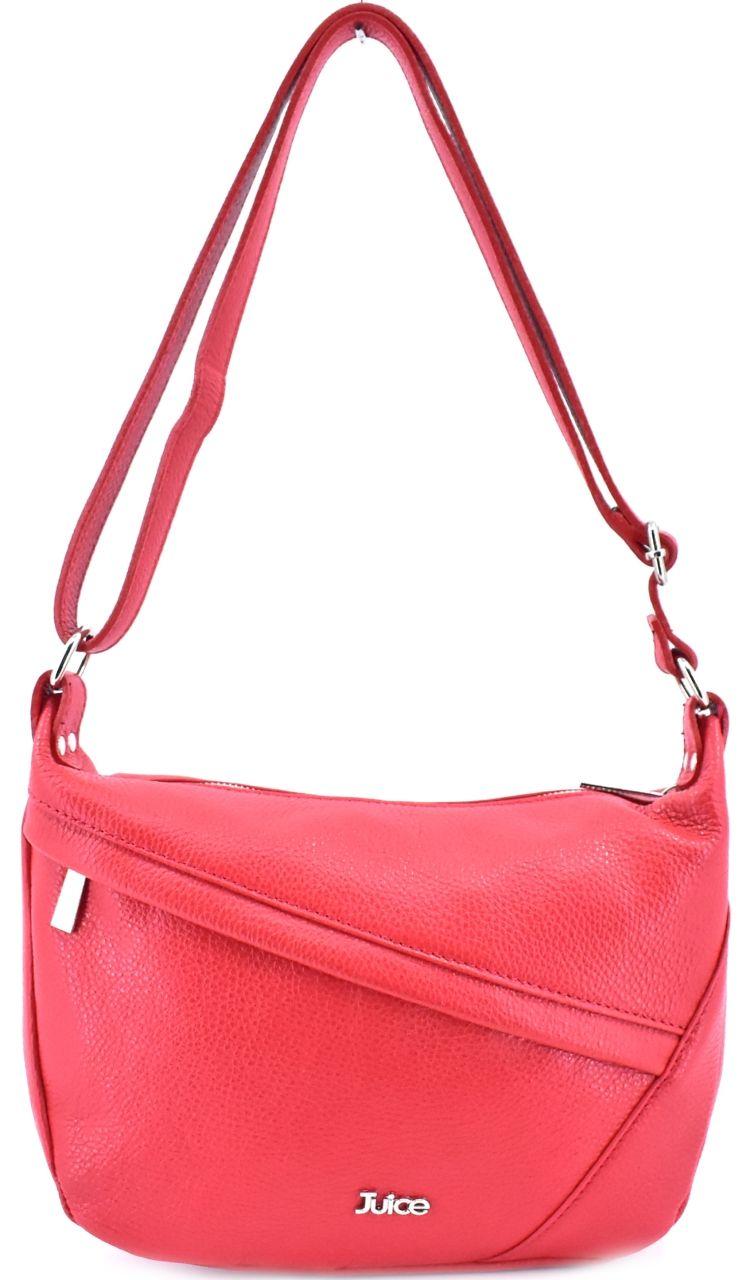 Dámská kožená kabelka crossbody Juice - světle červená