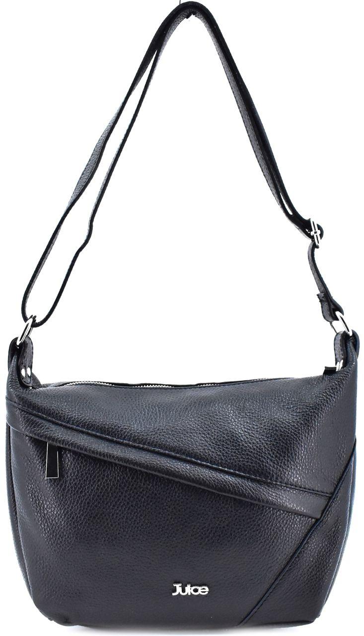 Dámská kožená kabelka crossbody Juice - černá 112038