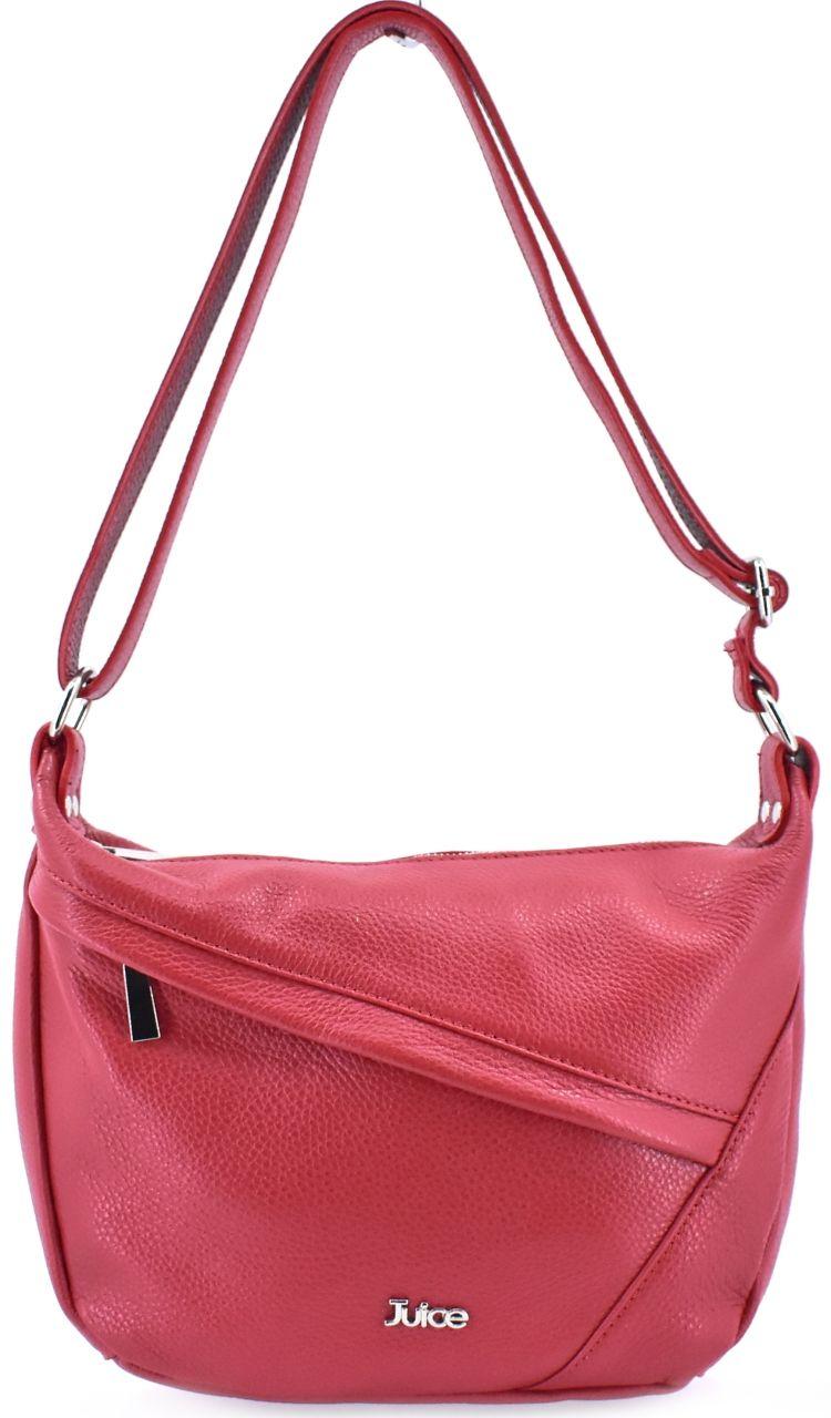 Dámská kožená kabelka crossbody Juice - červená