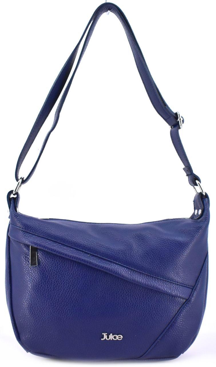 Dámská kožená kabelka crossbody Juice - tmavě modrá 112038