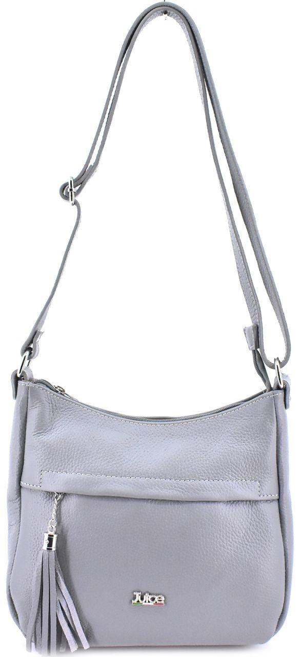 Dámská kožená kabelka crossbody Juice - šedá