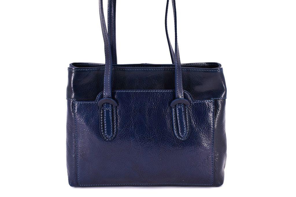 Dámská kožená kabelka Arteddy - tmavě modrá