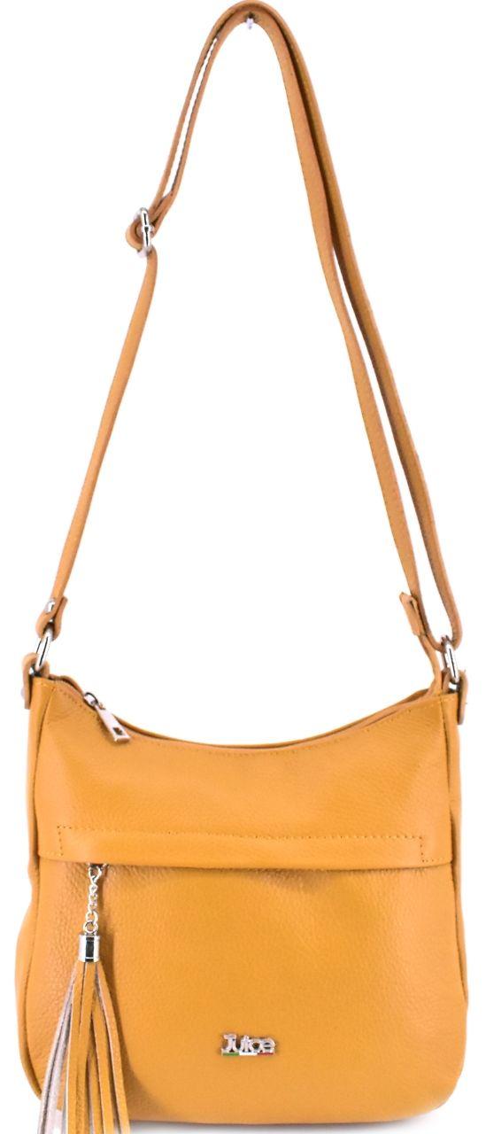 Dámská kožená kabelka crossbody Juice - hořčicová