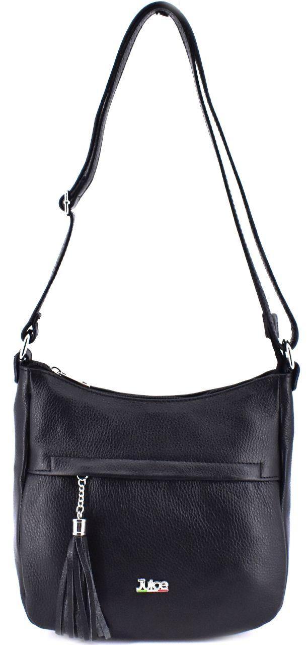 Dámská kožená kabelka crossbody Juice - černá