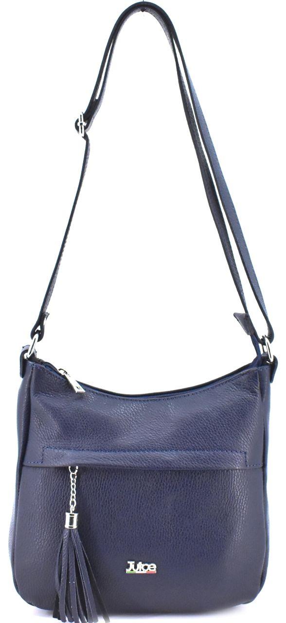 Dámská kožená kabelka crossbody Juice - tmavě modrá