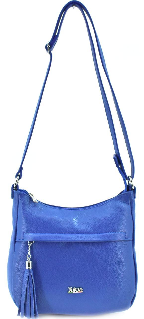 Dámská kožená kabelka crossbody Juice - modrá 112151