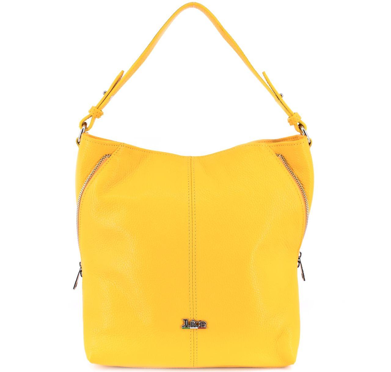 Dámská kožená kabelka Juice - žlutá