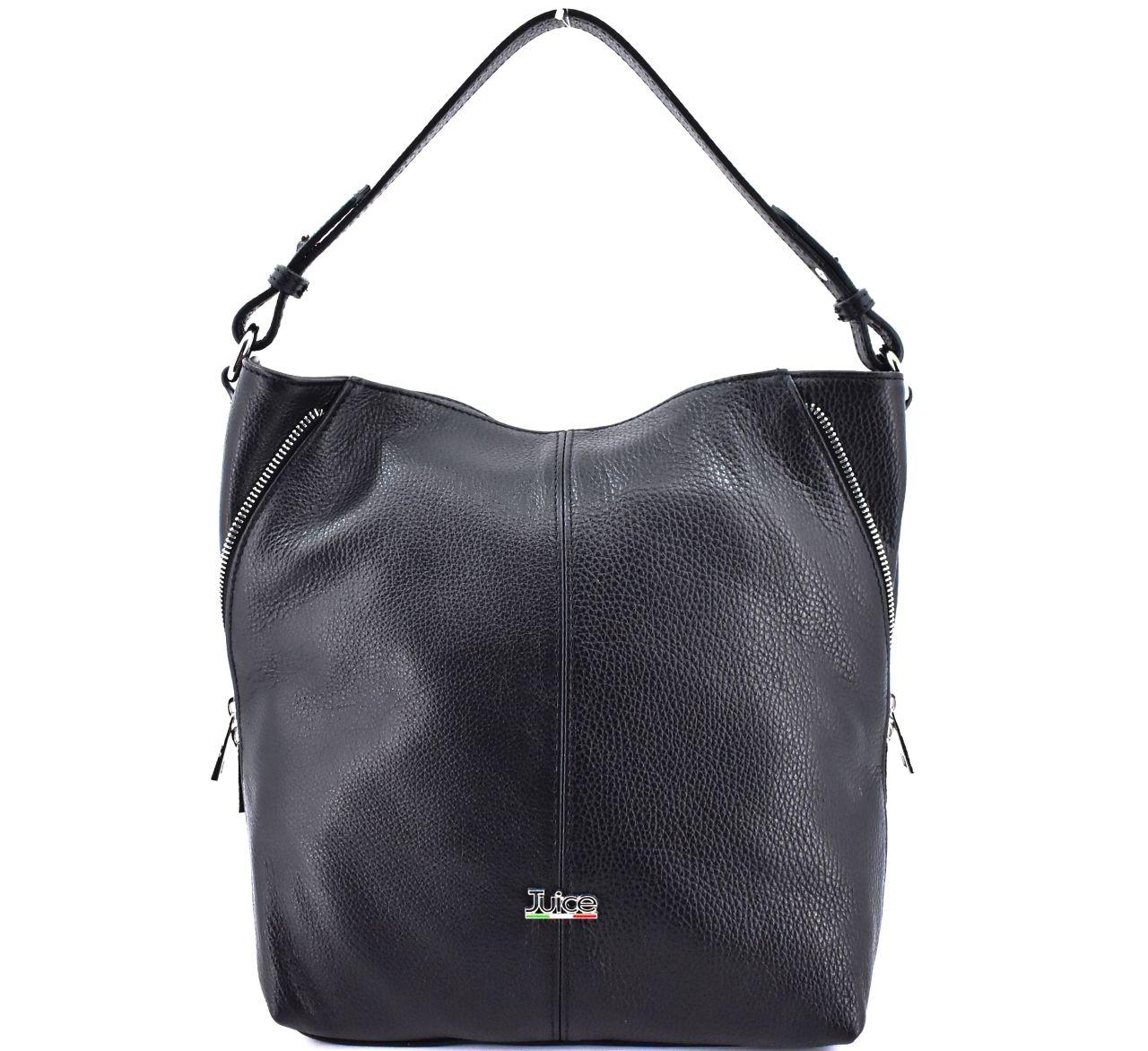 Dámská kožená kabelka Juice - černá 112172