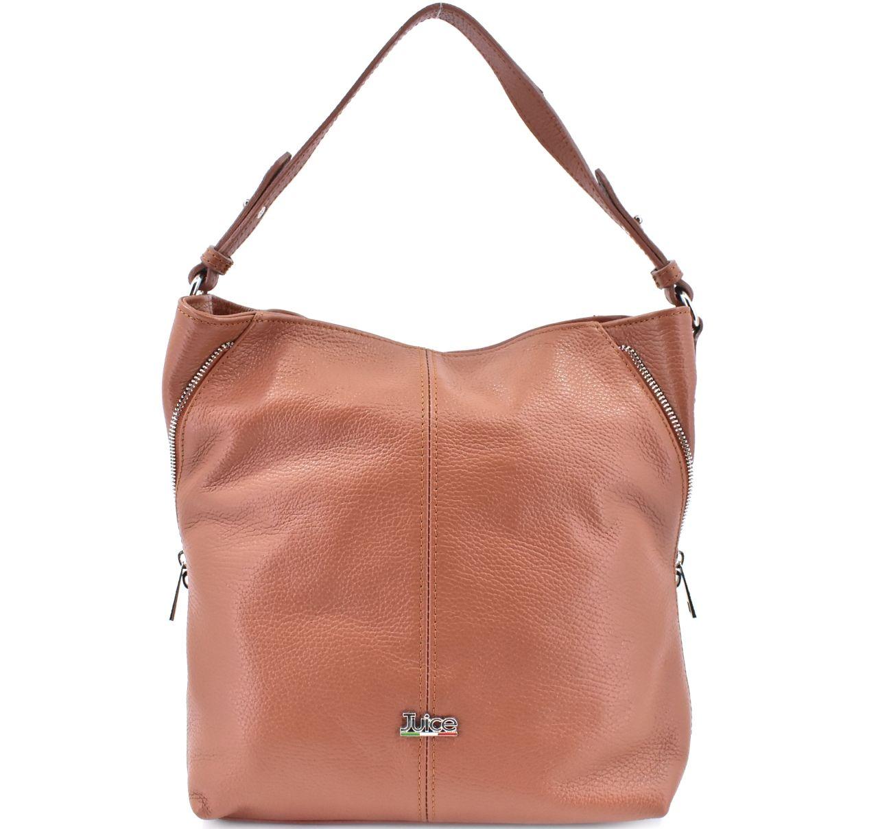 Dámská kožená kabelka Juice - rezavá 112172