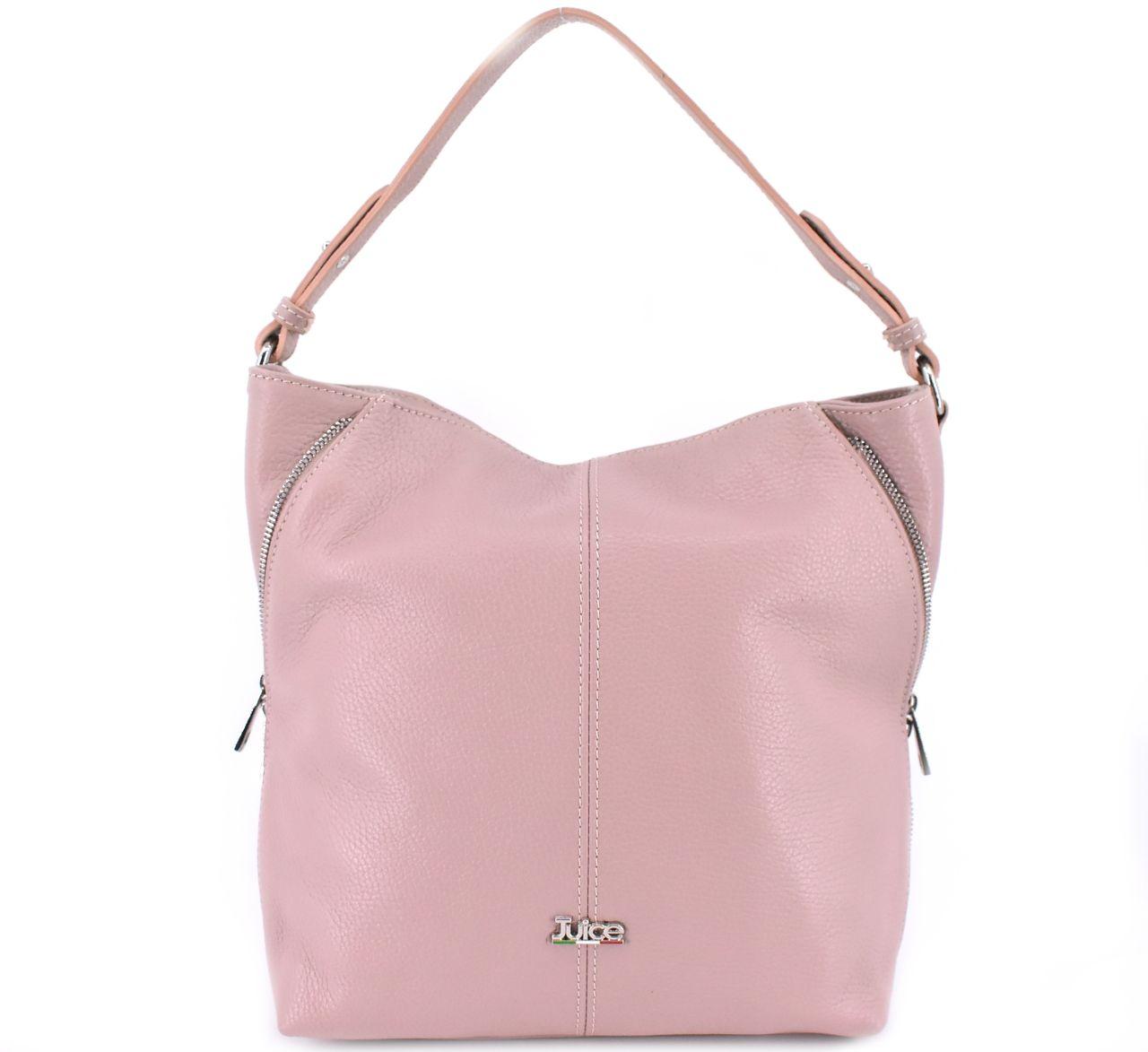 Dámská kožená kabelka Juice - růžová pudrová 112172