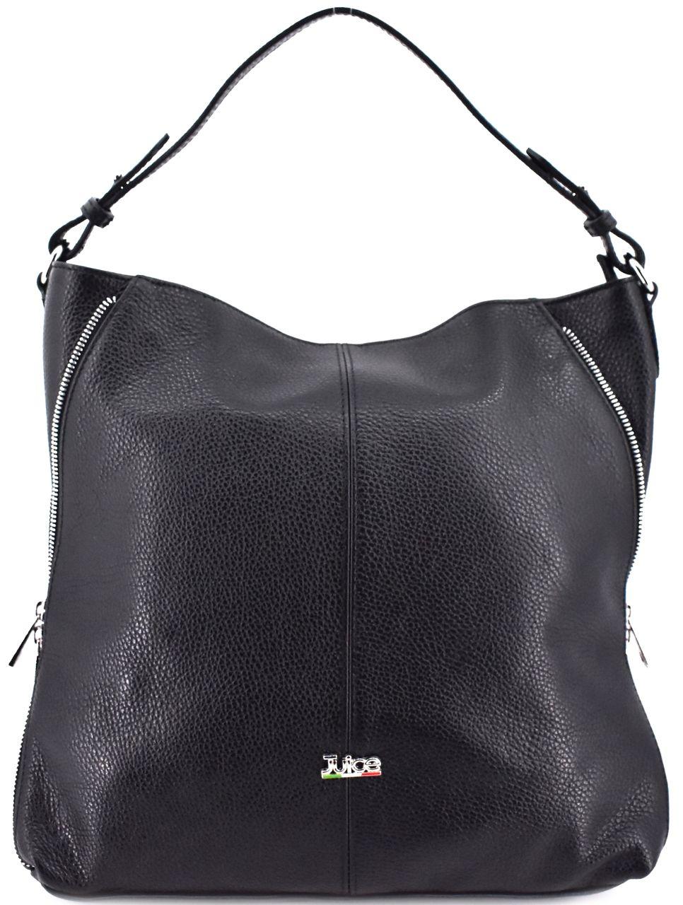 Dámská kožená kabelka Juice - černá 112173
